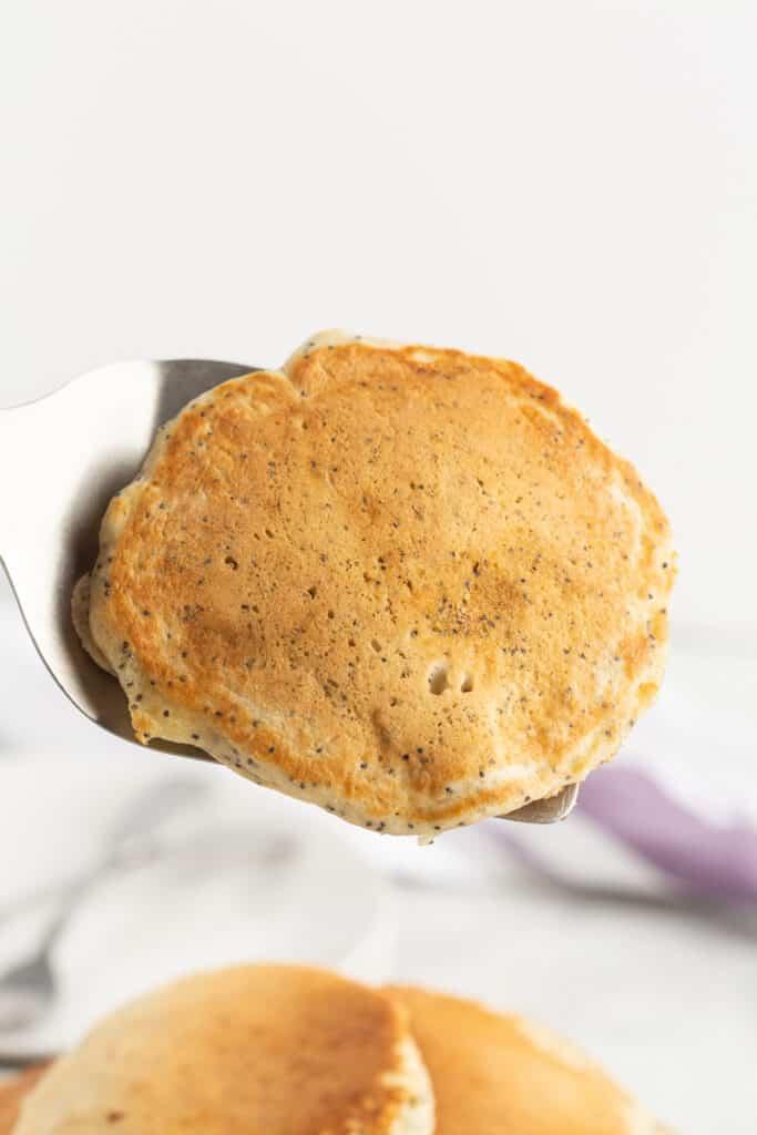 Pancake on a spatula