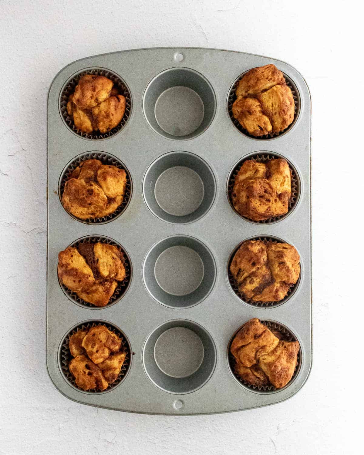 Monkey bread baked in a muffin pan.