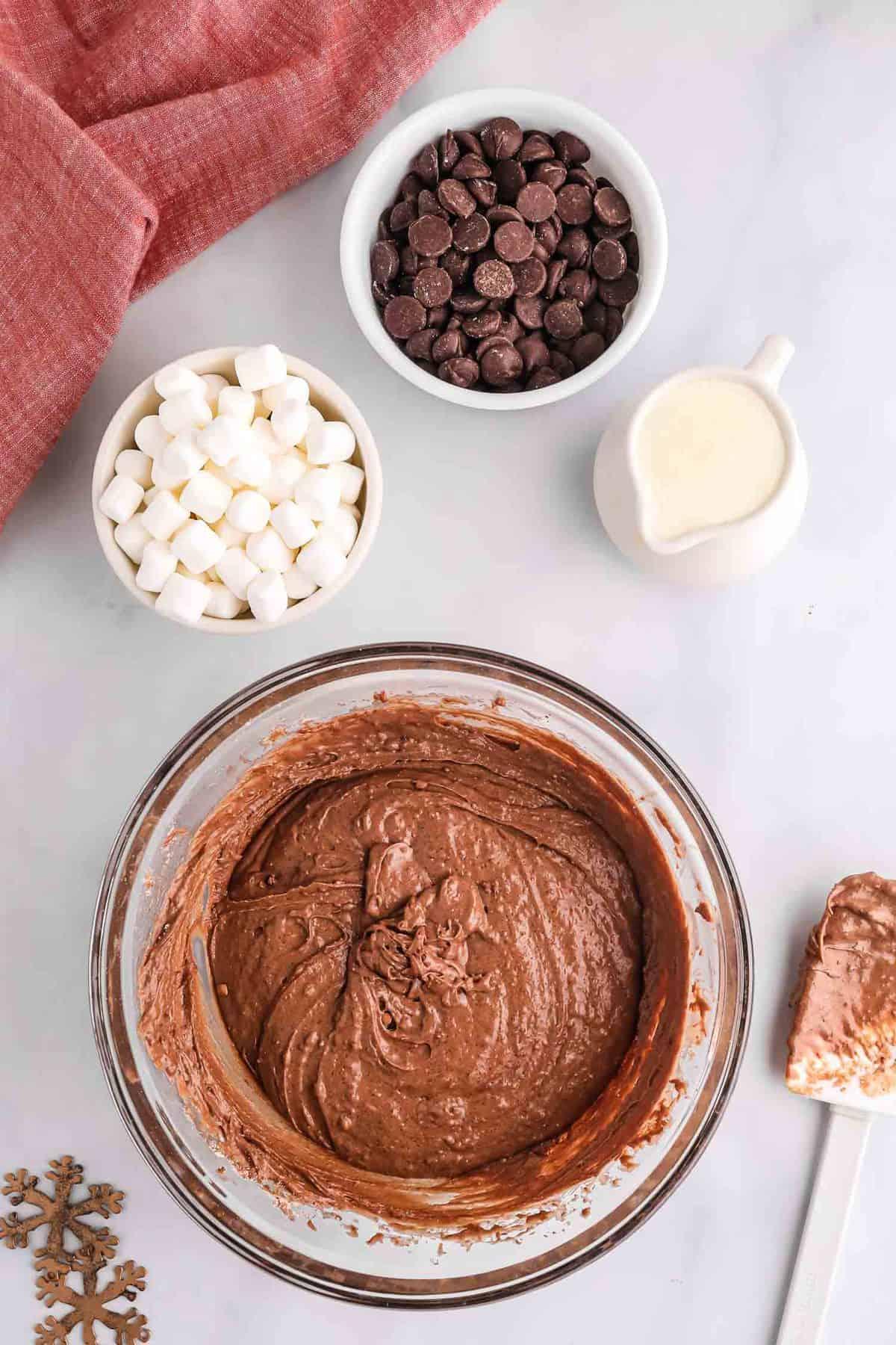 Chocolate pancake batter