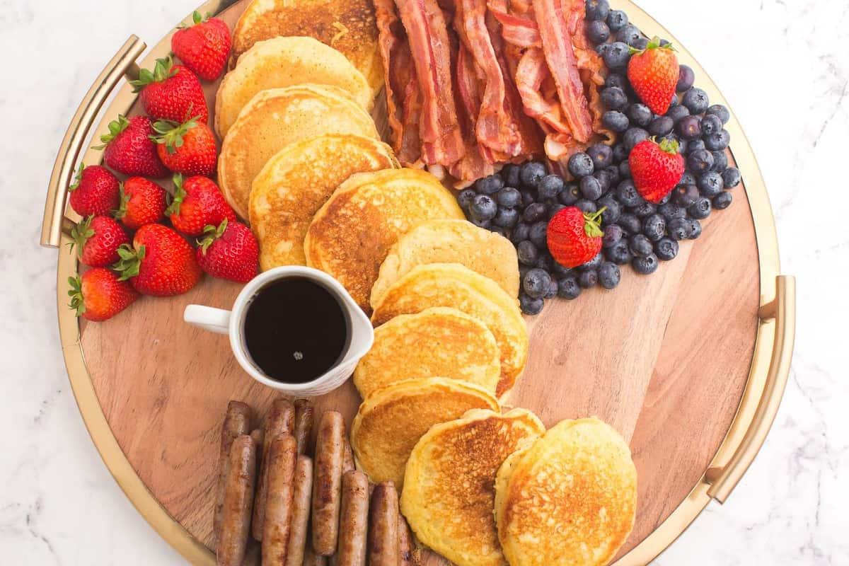 Pancake board process image, partially set up.